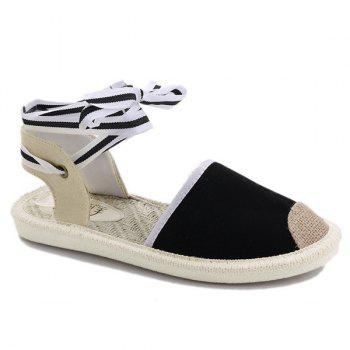 Slingback Canvas Tie Up Sandals