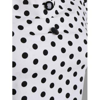 Polka Dot Off The Shoulder Top - Blanc 2XL