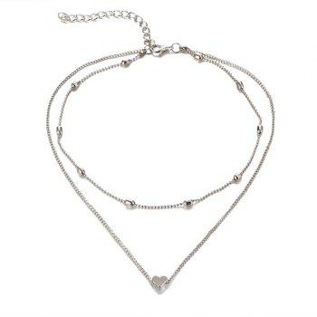 Collarbone Heart Layered Necklace