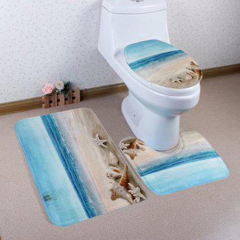 3Pcs Beach Shell Eco-Friendly Bathroom Mats Set