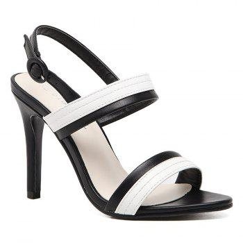 Two Tone Faux Leather Sandals