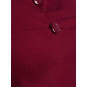 Off The Shoulder Slim Fit Top - Rouge vineux M
