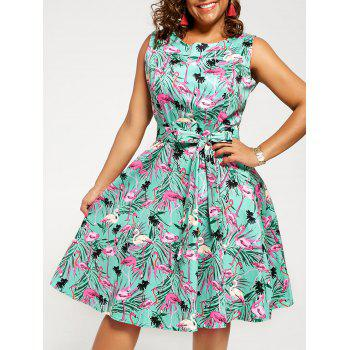 Plus Size Animal Print Pin Up Dress