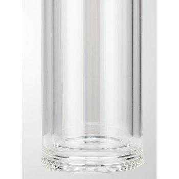 Travel Glass Kung Fu Tea Bottle with Filter - RED