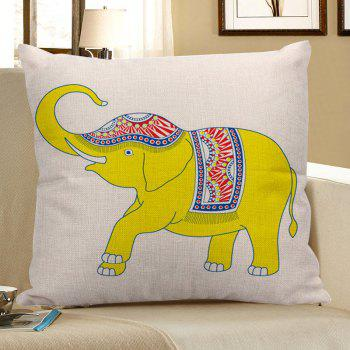 Ethnic Decorative Linen Elephant Pillow Case