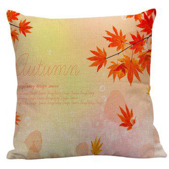 Decorative Maple Leaf Letter Pillow Case - ORANGE RED 45*45CM