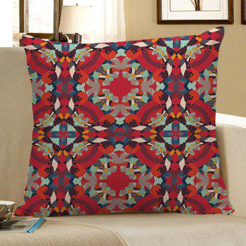 Bohemian Geometric Decorative Pillow Case - RED RED