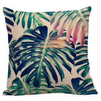 Decorative Palm Print Pillow Case - 45*45CM 45*45CM