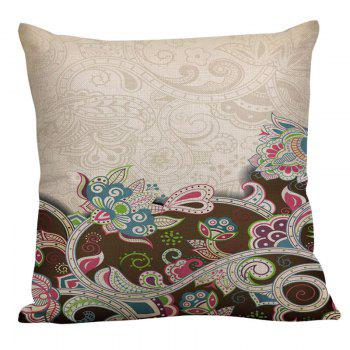 Bohemian Floral Linen Throw Decorative Pillow Case - COLORFUL 45*45CM