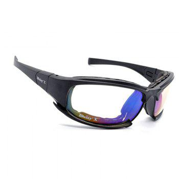 Tactical Detachable Cycling Glasses -  BLACK