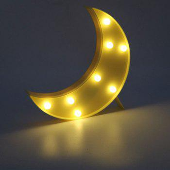 Decorative LED Moon Table Night Light - YELLOW YELLOW