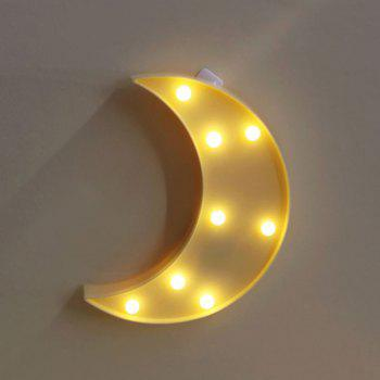 Decorative LED Moon Table Night Light -  YELLOW