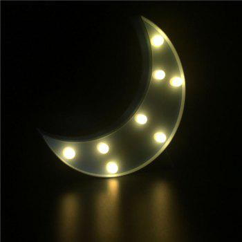 Decorative LED Moon Table Night Light -  BLUE