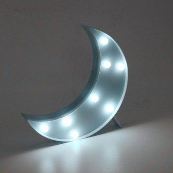 Decorative LED Moon Table Night Light - BLUE BLUE