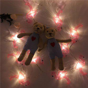 Decorative LED String Flamingo Fairy Lights - RED RED