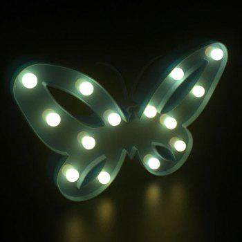 Decorative Marquee Butterfly LED Night Light -  BLUE