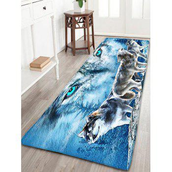 Wolf Pattern Flannel Skidproof Area Rug