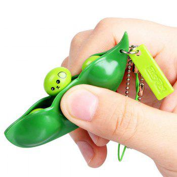 1 PC Anti Stress Squeeze Beans Toy with Keychain