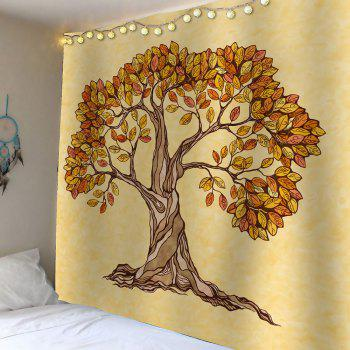 Artistic Tree Wall Hanging Beach Throw Tapestry - DEEP YELLOW W59 INCH * L59 INCH
