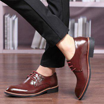 Enjoliveur en métal Faux Leather Formal Shoes - Rouge vineux 44