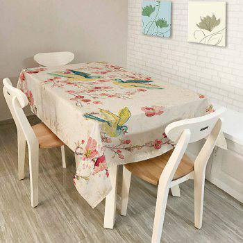 Kitchen Product Bird Floral Print Table Cloth