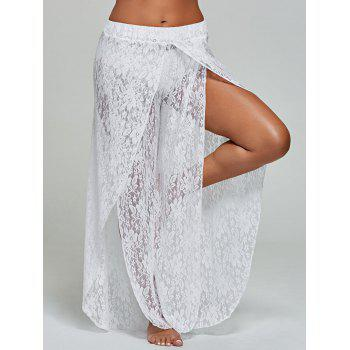 Lace Wide Leg Tulip Swim Cover Up Pants