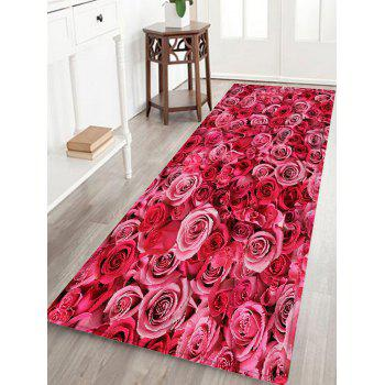 Rose Flowers Pattern Indoor Outdoor Area Rug