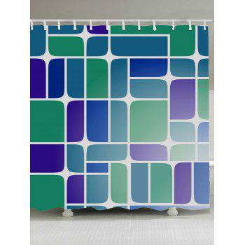 Geometry Print Mildewproof Fabric Shower Curtain - COLORMIX COLORMIX