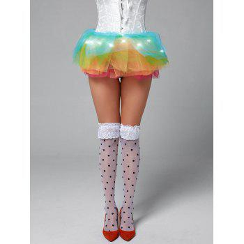 Rainbow Light Up Mesh Tutu Cosplay Skirt