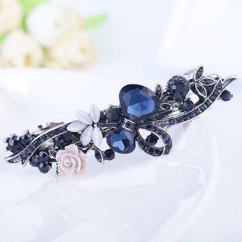 Floral Rhinestone Tiny Rose Embellished Barrette