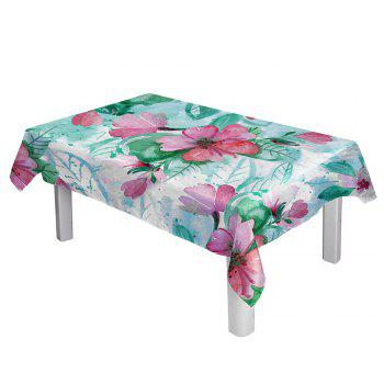 Waterproof Oil Painting Floral Print Table Cloth - COLORFUL COLORFUL