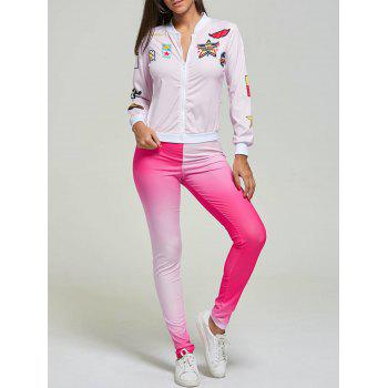 Funny Graphic Print Two Piece Casual Suit