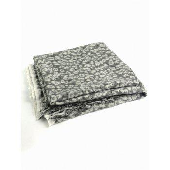 Wool Blended Square Leopard Pattern Warm Scarf - LEOPARD PRINT PATTERN