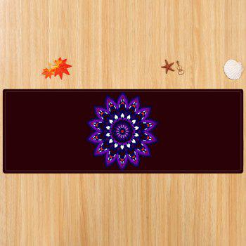 Mandala Pattern Water Absorbing Area Rug - DEEP BROWN W24 INCH * L71 INCH