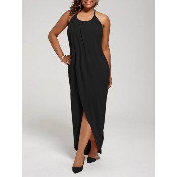 Plus Size Halter High Slit Dress