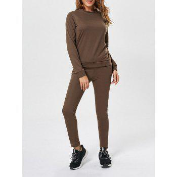 Long Sleeve Pullover Sweatshirt+Drawstring Pants