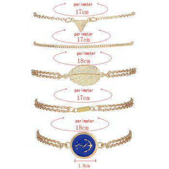 Alloy Strand Bracelets with Boat Anchor Badge -  GOLDEN
