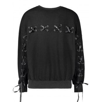 Lace Up Casual Selt Tie Sweatshirt