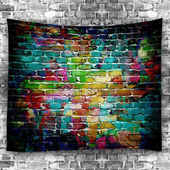 Wall Hanging Dazzling Brick Bedroom Dorm Tapestry - COLORFUL W79 INCH * L79 INCH