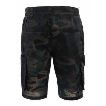 Camo Print Board Cargo Shorts - CAMOUFLAGE CAMOUFLAGE