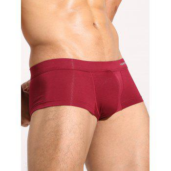 U Convex Pouch Plain Trunks - CLARET L