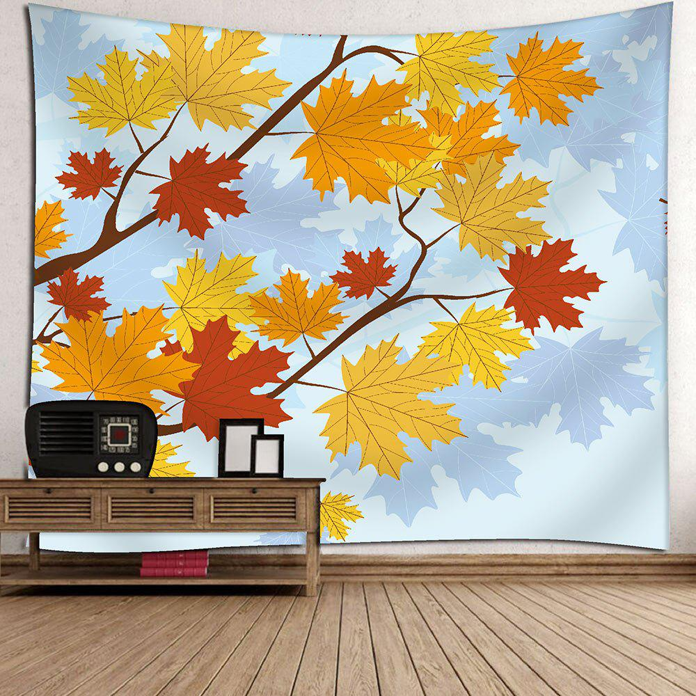 2018 Wall Art Hanging Maple Leaf Velvet Tapestry LIGHT BLUE W INCH L ...