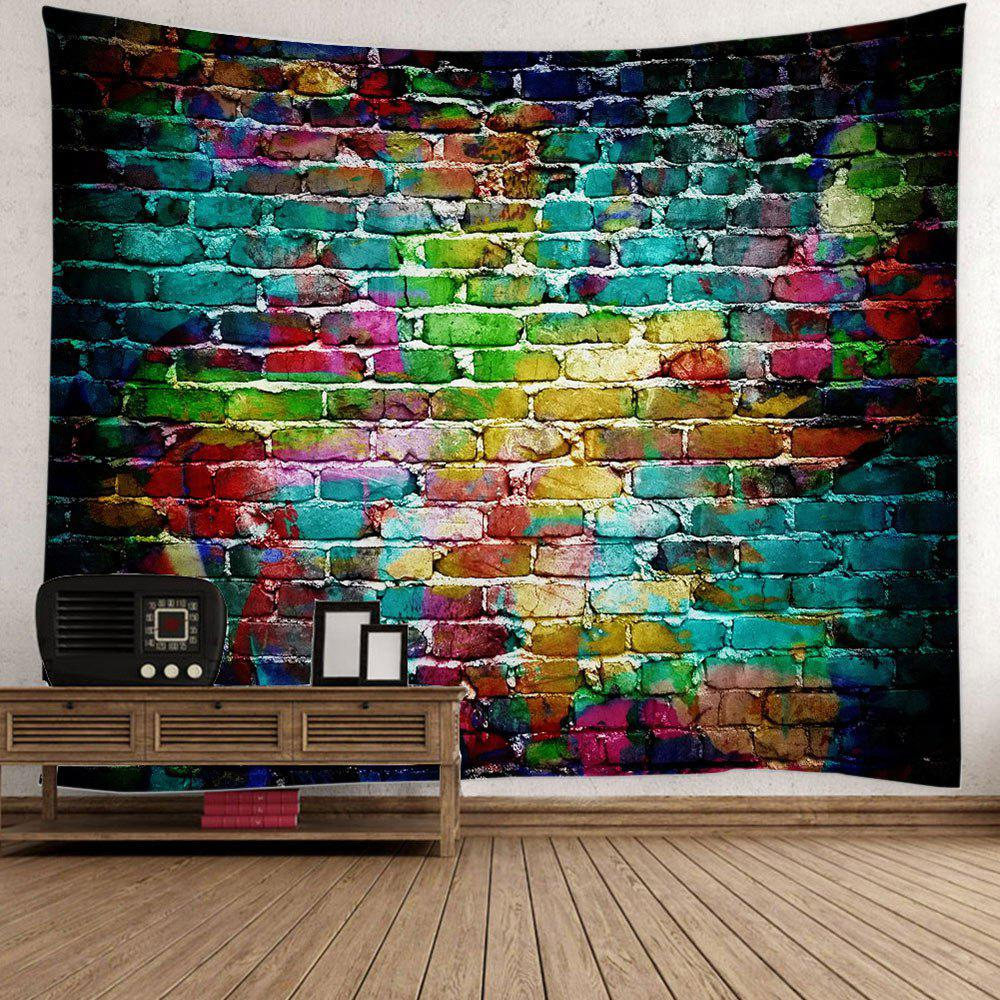 Wall Hanging Dazzling Brick Bedroom Dorm Tapestry - COLORFUL W79 INCH * L71 INCH