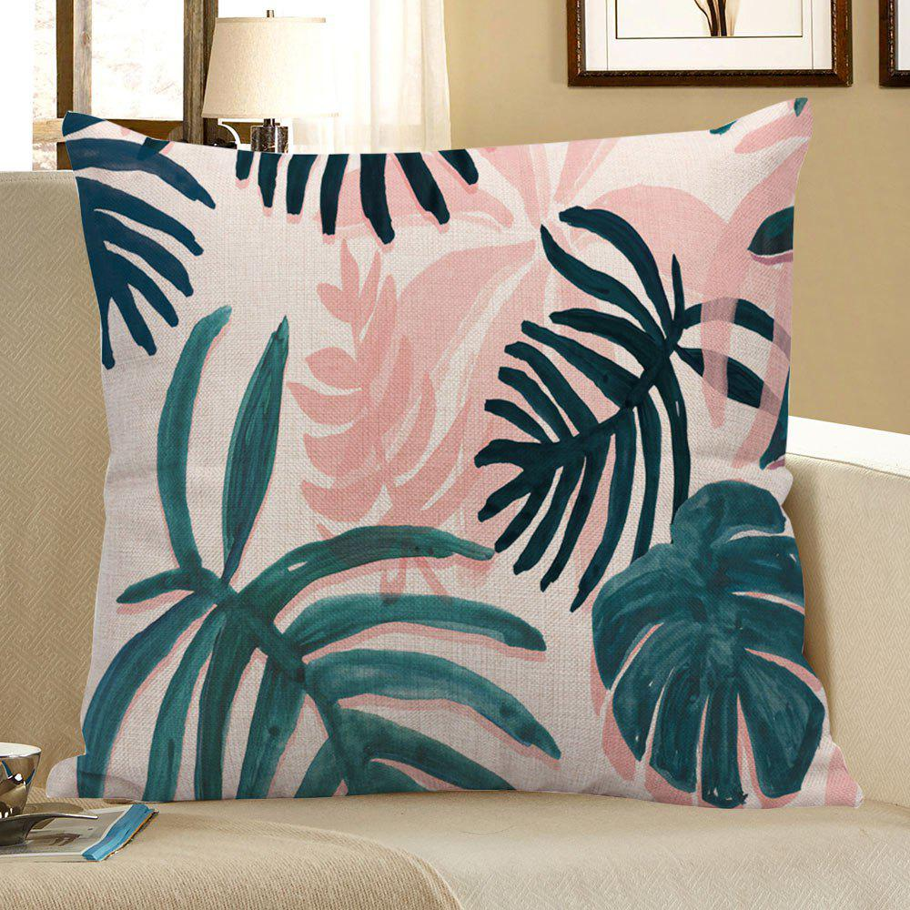 Boho Palm Printed Linen Pillow Case - COLORFUL 45*45CM