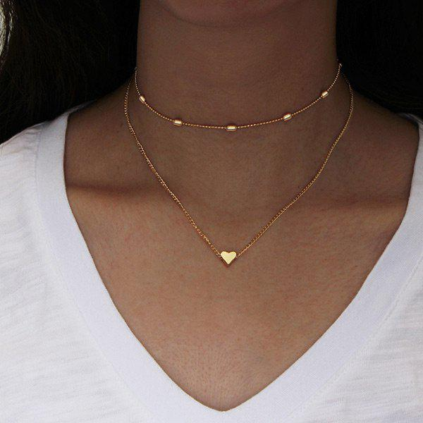 Collarbone Heart Layered Necklace letter j heart collarbone pendant necklace