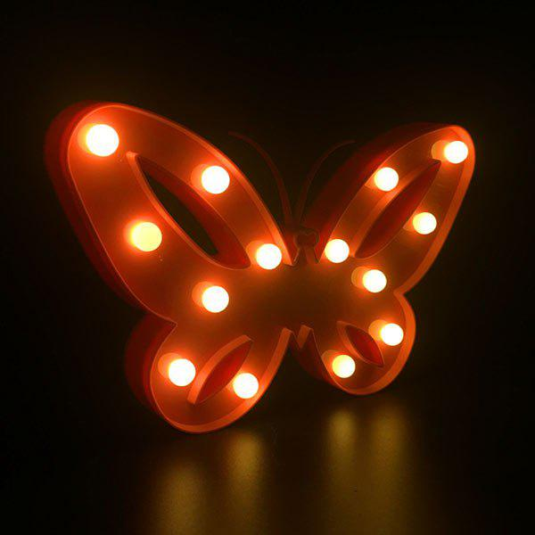 Decorative Marquee Butterfly LED Night Light - RED