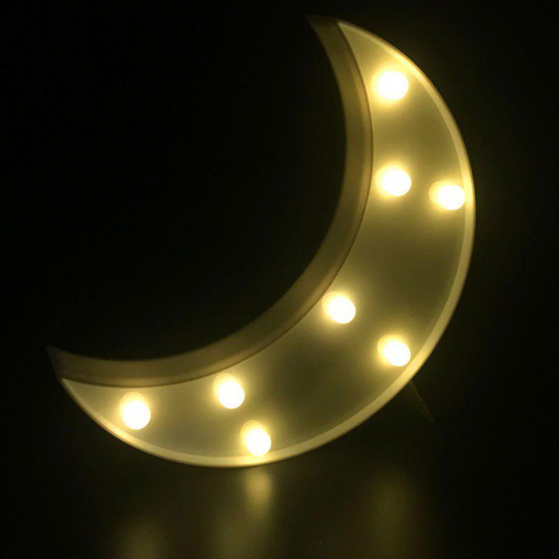 Decorative LED Moon Table Night Light - WHITE