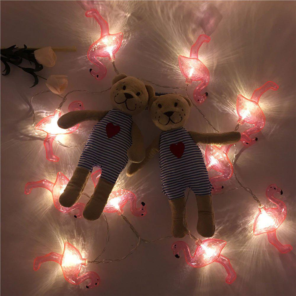 Lumière décorative de LED String Flamingo Fairy Lights - Rouge