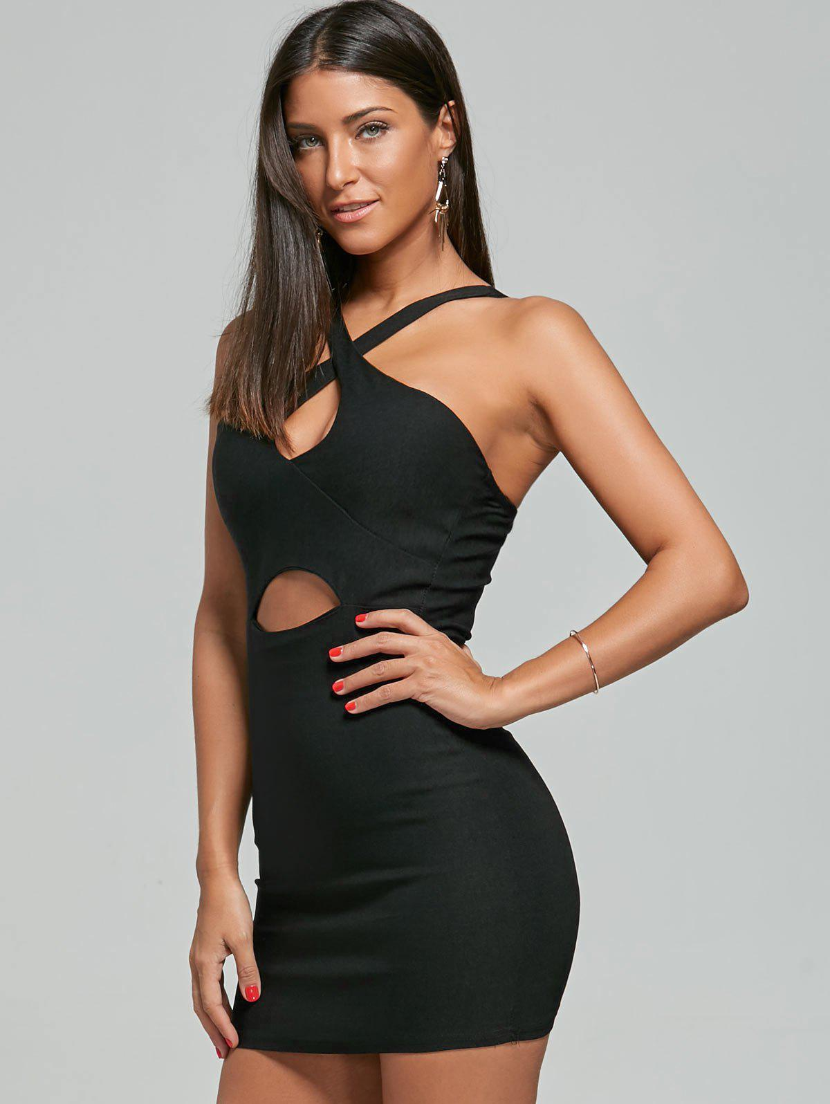Robe décontractée Club Night Out Bodycon - Noir ONE SIZE