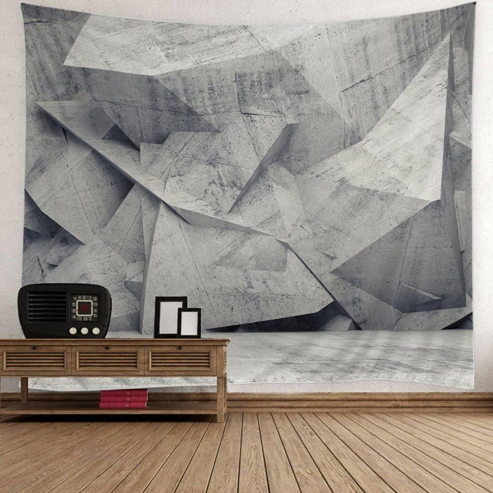 Geometry Printed Wall Hanging Decor Tapestry - LIGHT GREY W79 INCH * L59 INCH